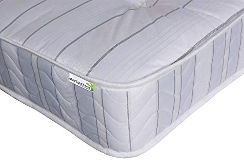Starlight Beds - 3ft Single Mattress. Open Coil Spring Mattress (90cm x 190cm) (3ft x 6ft3) Single Mattress