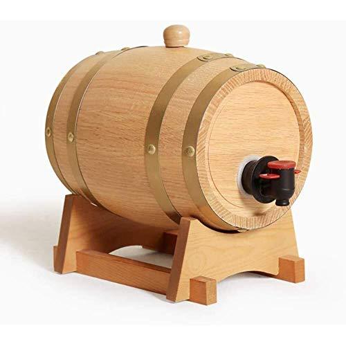 DYB Juego de decantador de whisky en barril de vino, armarios de almacenamiento en el cubo de vino, barriles especiales de roble, para el almacenamiento de vinos finos