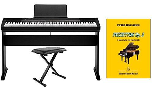 CASIO CDP 130 Pianoforte digitale 88 tasti pesati, completo di supporto e panca in metallo.