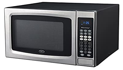 Oster Microwave Oven, 1.3 cu. ft, Stainless Steel/Black