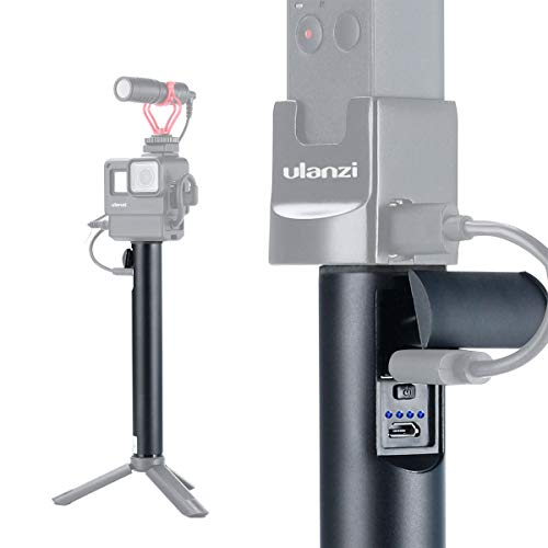 ULANZI BG-1 5200mAh Power Bank Hand Grip Vlog Monopod Trípode para Gopro 7 6 5 dji OSMO Action dji OSMO Pocket