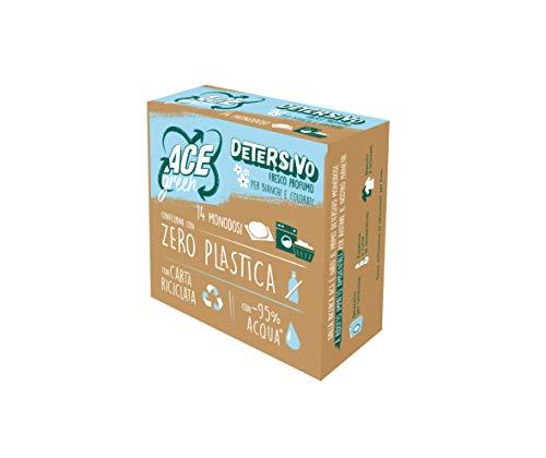 ACE Green Pastiglie Detersivo, 14 Monodosi Direttamente in Lavatrice