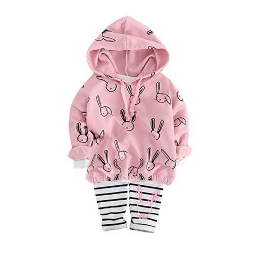 Geilisungren Ropa bebé niña, Conjuntos de Ropa de Bebé Niña Sudadera con Capucha Camiseta Tops + Pantalones Bebés Conjunto de Trajes de Ropa