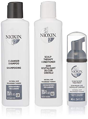 Nioxin Hair Care System 2 for Fine and Progressed Thinning Hair Trial Kit