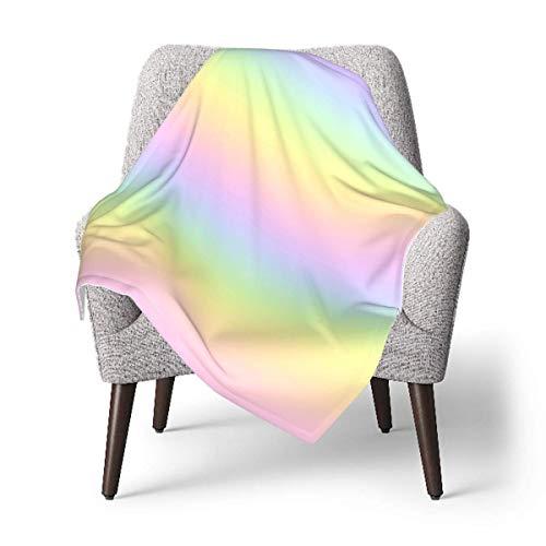 Hdadwy Manta de tiro para niños, manta de bebé arcoíris en colores pastel, manta suave de felpa para niños y niñas, manta de recepción de 30 x 40 pulgadas
