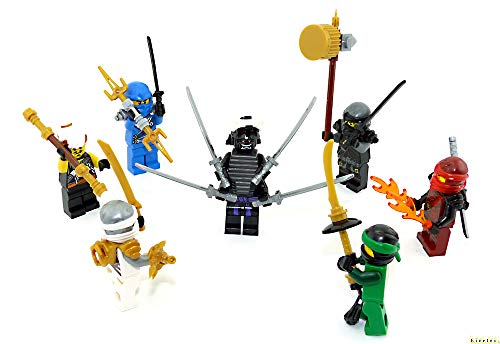 LEGO Ninjago Figuren 7er Set. Der Kampf gegen Garmadon mit Jay - Kai - Cole - Lloyd - Master WU