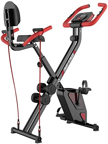 pooboo Folding Exercise Bike Upright Convertible Magnetic Bike product image