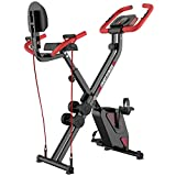Best Folded Bikes - pooboo Folding Exercise Bike Upright Convertible Magnetic Bike Review