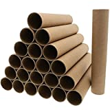 Brown Cardboard Tubes for Crafts (1.8 x 10 In, 24 Pack)