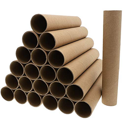 Brown Cardboard Tubes for Crafts, DIY Craft Paper Roll (1.75 x 8 In, 24 Pk)