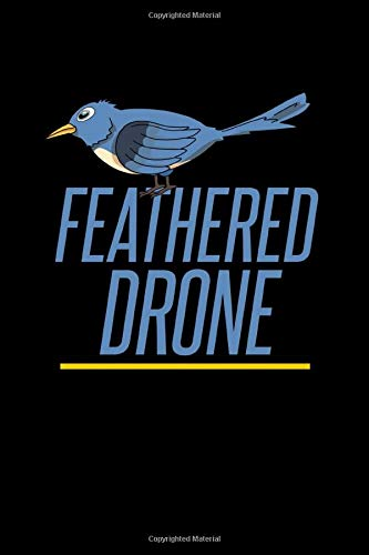 Feathered Drone: Bird Notebook to Write in, 6x9, Lined, 120 Pages Journal