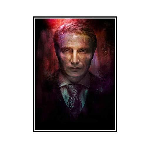 ADNHWAN Hannibal Season 3 TV Series Impresión en Lienzo de Pared Decoración para el hogar Arte Moderno Decoración de inspiración para la casa -50X70cm Sin Marco 1 Uds