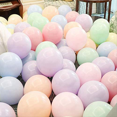 Exc bruiloftssala, ballon, vormsel, baby, verjaardag, decoratie, dubbellaags, helium, party-arrangement, 50 stuks Estilo 1 Veelkleurig