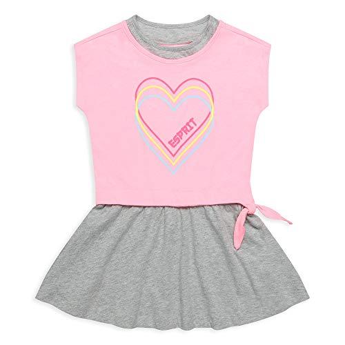 ESPRIT KIDS Mädchen RQ3100312 Knit Dress Kleid, Rosa (Neon Pink 314), 104/110 (Herstellergröße: 104+)