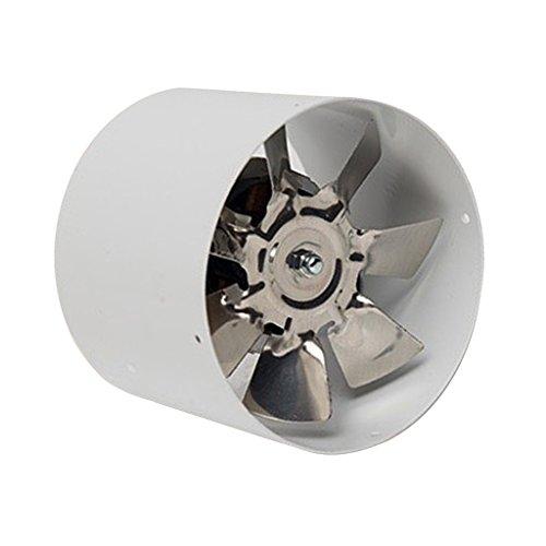 IPOTCH 4 Pulgadas Ventilador de Extractor de Aire en Línea Super Ligero y Silencioso para Baño Cocina Dormitorio Oficina