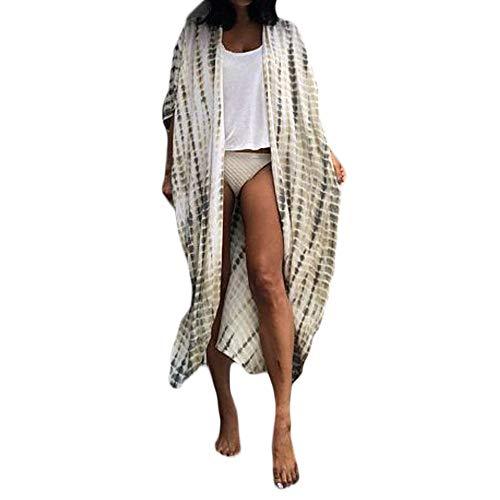 Dames zomerjas cardigan blouse Beachwear Boho strand Kimono bikini cover up licht jack bovenstuk Cardigan chiffon bloemen tops