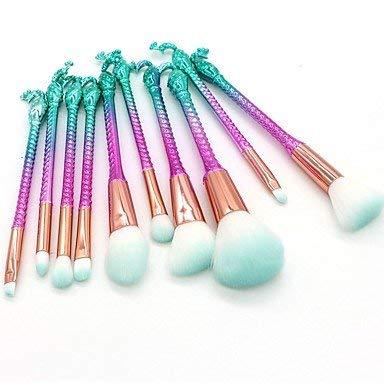 HUAZJ 10-Pack Foundation Brush Poudre Brush Lip Brush Brush Eyeshadow Brush Makeup Brush Set Débutant Pratique Synthetic Hair Nylon Full Coverage ABS 3 *