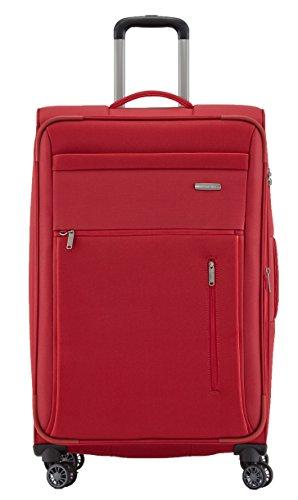 """Travelite Gepäckserie """"CAPRI"""" in 3 Farben: Praktische, elegante 2- und 4-Rad-Trolleys, Reise- und Bordtaschen Koffer, 76 cm, 98 Liter, Rot"""