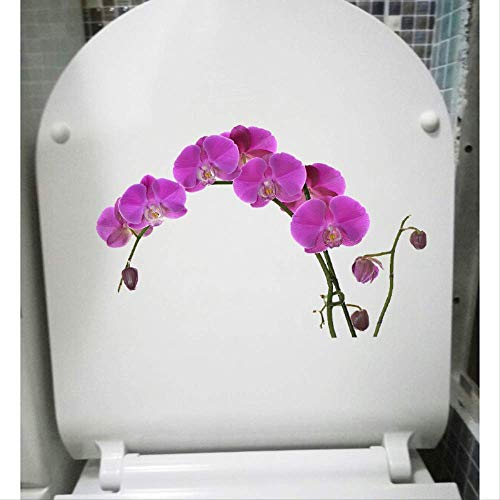muurstickers,Orchidee Mooie Bloemen Home Decor Slaapkamer Muur Sticker Wc Toiletbril Stickers a A