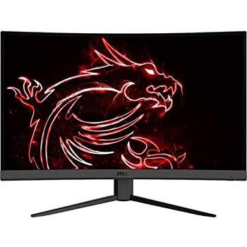 MSI Full HD Non-Glare 1ms 2560 x 1440 165Hz Refresh Rate 2K Resolution Free Sync 27  Curved Gaming Monitor  Optix G27CQ4  - Black