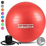 Sukudon バランスボール 45/55/65/75CM (八色) 厚い 重量増加 ヨガボール 滑り止め ……