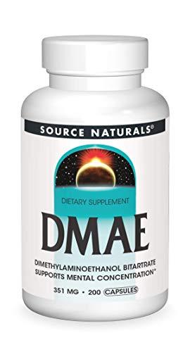 海外直送品Source Naturals Dmae Capsules, 200 Caps