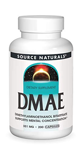 Source Naturals, DMAE, 351 mg, 200 Capsules by Source Naturals