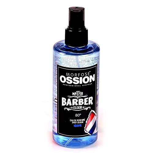 Morfose Ossion Eau de Cologne 300ml Kolonya 80° Alkoholgehalt, desinfizierend, Master of Barber Elixir (STORM,WAVE,IMPACT) After Shave Spray Cologne langanhaltender Herren Duft (Wave)
