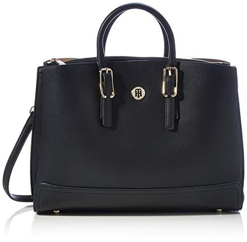 Tommy Hilfiger Damen HONEY WORKBAG Taschen, Black, One Size