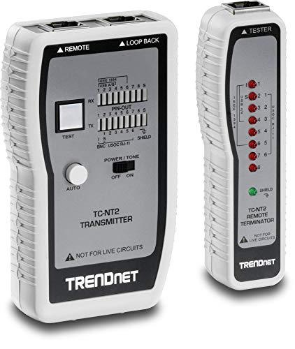 TRENDnet TC-NT2 Netzwerkkabeltester, Testet Ethernet-, USB- und BNC-Kabel, Prüft präzise Pin-Konfigurationen für Kabellängen von bis zu 300 Metern (984 ft)