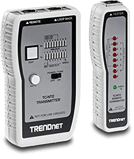 TRENDnet Network Cable Tester, Tests Ethernet/USB & BNC Cables, Accurately Test Pin Configurations up to 300M (984 ft), TC-NT2 (B0000AZK08) | Amazon price tracker / tracking, Amazon price history charts, Amazon price watches, Amazon price drop alerts