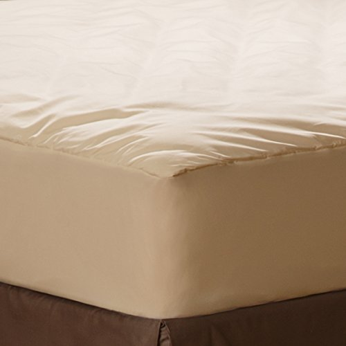 AllerEase Organic Cotton Allergy Protection Fitted Mattress Pad
