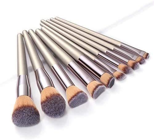 CWD Super Soft Makeup Pinsel Champagner Make-up Pinsel Set flüssigkeit Fundament erröten lid Schatten Concealer Stift lippe Auge Make-up Pinsel kosmetisch Beauty Tool (Color : Champagne Gold)