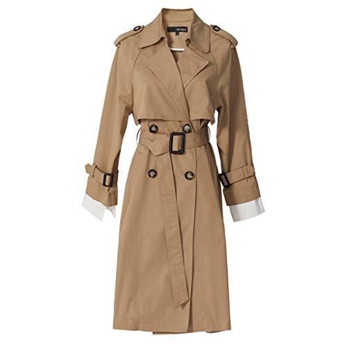 Priority Culture Damesjas, halflange en lange losse mantel, pluizig dunne jas, herfst en winter, elegant temperament jas, valgus kraag, kantoor