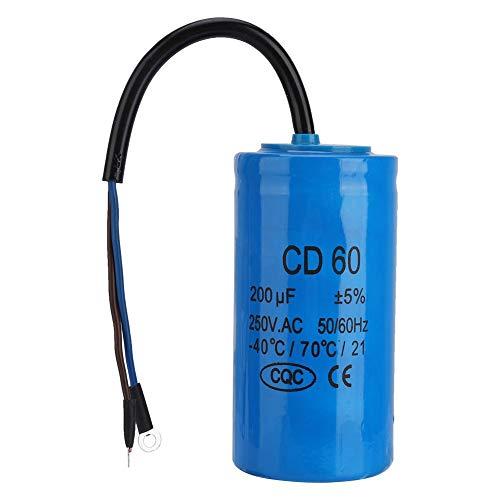 Betriebskondensator, 250 V AC 600 uF 50/60 Hz CD60 Laufkondensator mit Kabel für die Motorluftkompression