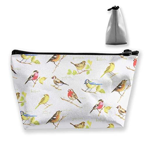 Prestigious Textiles Trousse de maquillage trapézoïdale Motif oiseaux du jardin