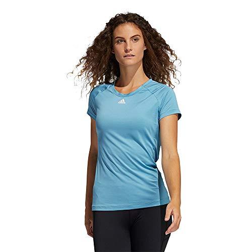 adidas Performance Tee Damen-T-Shirt, Damen, Unterhemd, GM2906, Azubru/Weiß, XL