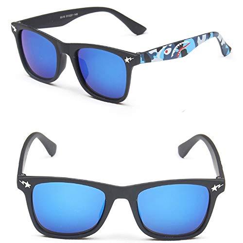 xingxing Gafas de sol de moda para niños con espejo cuadrado UA400 (lentes de color: 10 MN8516 C2)