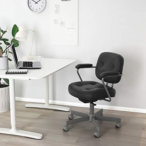 BestOnlineDeals01 ALEFJÄLL krzesło biurowe, czarny z połyskiem, 64 x 64 x 95 cm, trwałe i łatwe w pielęgnacji. Krzesła biurowe. Krzesła stołowe. Meble przyjazne dla środowiska.