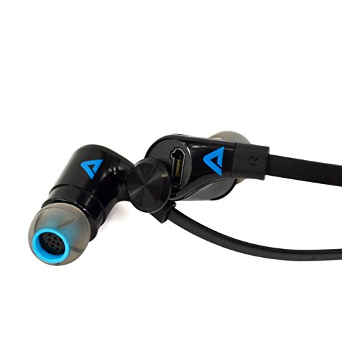 Best Wireless Bluetooth Earbuds, Atlas Media Headphones - Atlas EarBuddy, Secure Fit NFC Premium Earbuds with Mic - iPhone - Android - HTC - Galaxy - Samsung - T-Mobile- AT&T - Sprint - Verizon
