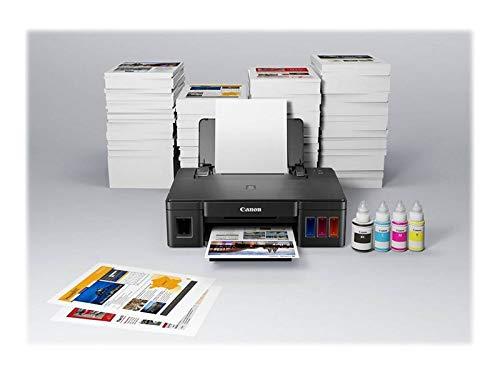 Canon PIXMA G1501 MegaTank Drucker nachfüllbar Tintenstrahl DIN A4 (USB, 4.800 x 1.200 dpi, große Tintentanks, hohe Reichweiten, niedrige Seitenkosten) schwarz