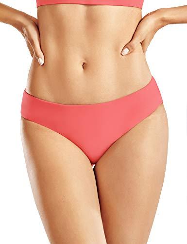 CRZ YOGA Mujer Bikini Brasileno Playa Traje De Sexy Baño Bikinis Bottoms con Cordón Tinte de Cereza 46