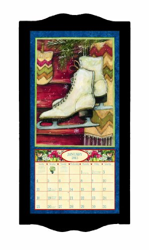Lang Perfect Timing - Lang Classic Black Diamond Vertical/Small Calendar Frame, 8.75 x 17.75 Inches (1015003)