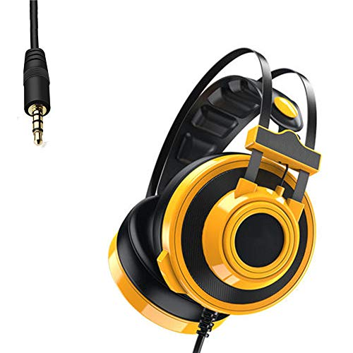 ENEN Casque de Jeu 3,5 mm Filaire Intra-auriculaire, Casque Surround 7.1, Microphone antibruit, léger, Compatible avec PC, PS4