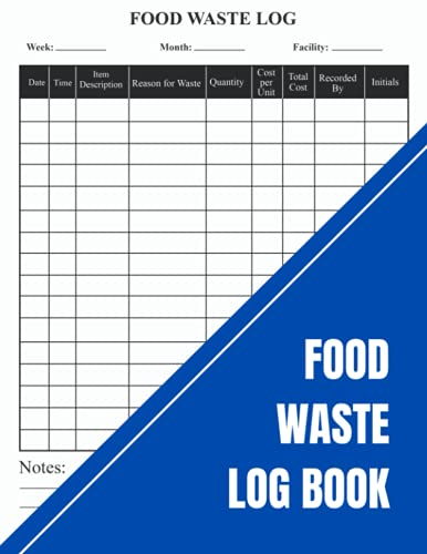 Food Waste Log Book: Kitchen Log Book | Food Hygiene Record Book | Red | For Restaurants, Catering & Home |A4