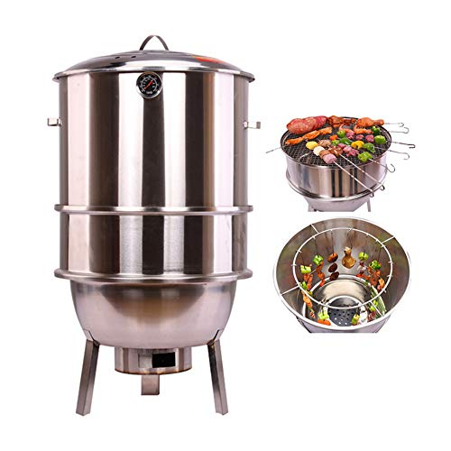 DJLOOKK Multi-layer Charcoal Barbecues Grills, Stainless Steel BBQ Grills...