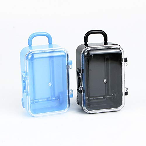 Pomeat 12 Pcs Mini Suitcase Candy Box - Luggage Shape Elegant Wedding Favors Party Reception Candy Toy (Black & Blue)