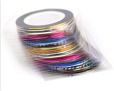 30pcs Set Nail Sticker Roll Striping Tape Multic Overseas parallel