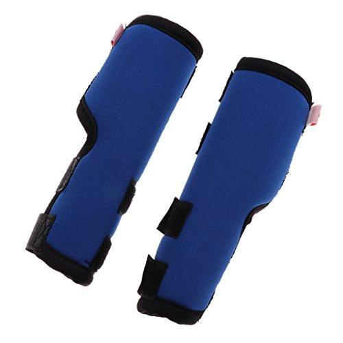 2pcs Hunde Kniebandage Gelenkbandage aus Neopren für Vorder- oder Hinterbein - Blau S