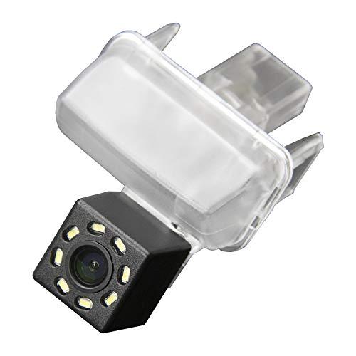 HD 720p Farb Rückfahrkamera Kennzeichenbeleuchtung Kamera Einparkhilfe mit Distanzlinien kompatibel für Toyota Corolla Levin Yaris L Vios Verso Camry Highlander Toyota Auris MK1
